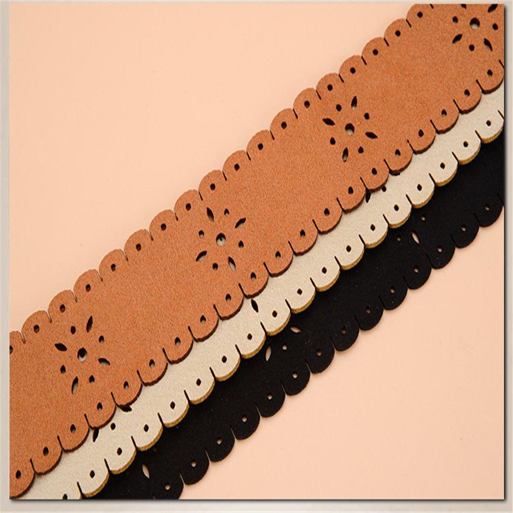 NSSBZZ Birthday Gifts ollowed Out Wide Belt Knot Tassel Lady Folk Style Skirt Elegant Decorative Cloth Girdle 145cm