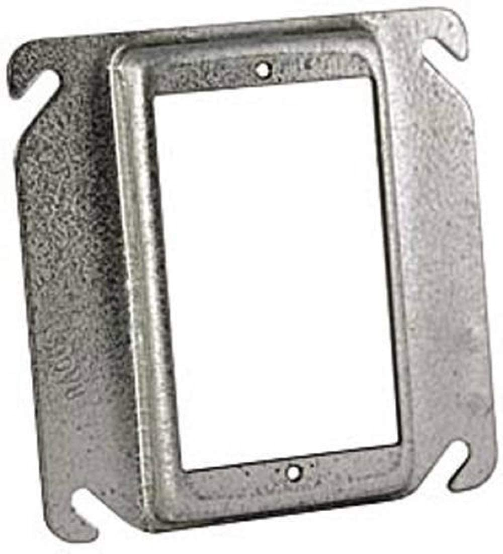 4-Inch Hubbell-Raco 782 Raised 1//2-Inch Single Device Square Mud-Ring for Tile