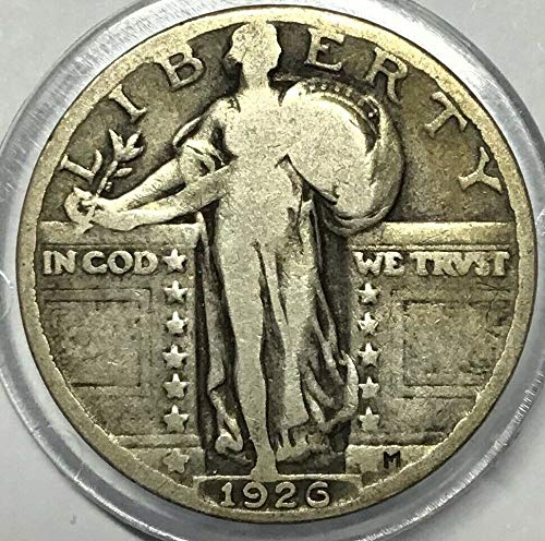 1926 U.S. Standing Liberty Silver Quarter Dollar, (1-Coin) Strong Full Date (1/4) Fine to ()