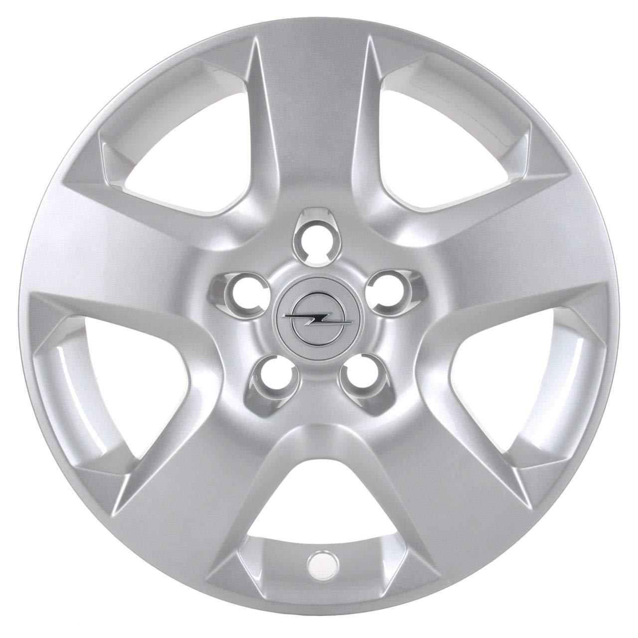 Opel Recambios Originales GM 1 x Tapacubo Plata Cromado 16 Pulgadas Astra H Zafira B 1006077/13198634: Amazon.es: Coche y moto