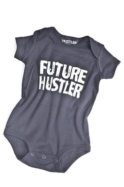 Hustler - Pelele - Cuello Redondo - Manga Corta - para bebé niña Negro 6 Mes: Amazon.es: Ropa y accesorios