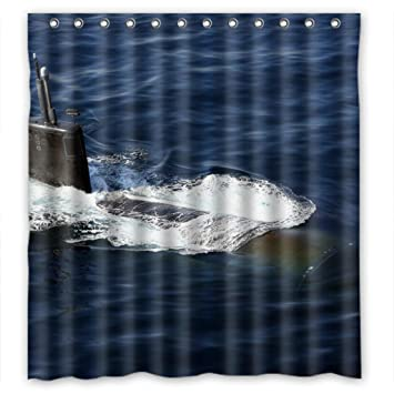 Amazon Military Navy Submarine Fashion Shower Curtain Measure