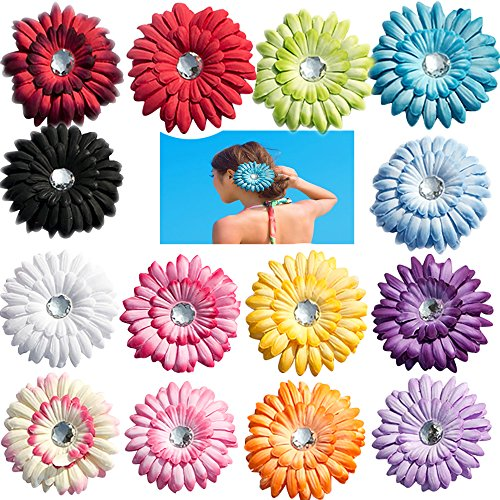 14 Pcs Girls Hair Flower Clips-Big Boutique 4