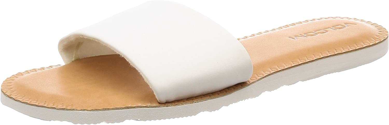Volcom Women's Simple Synthetic Leather Strap Slide Sandal