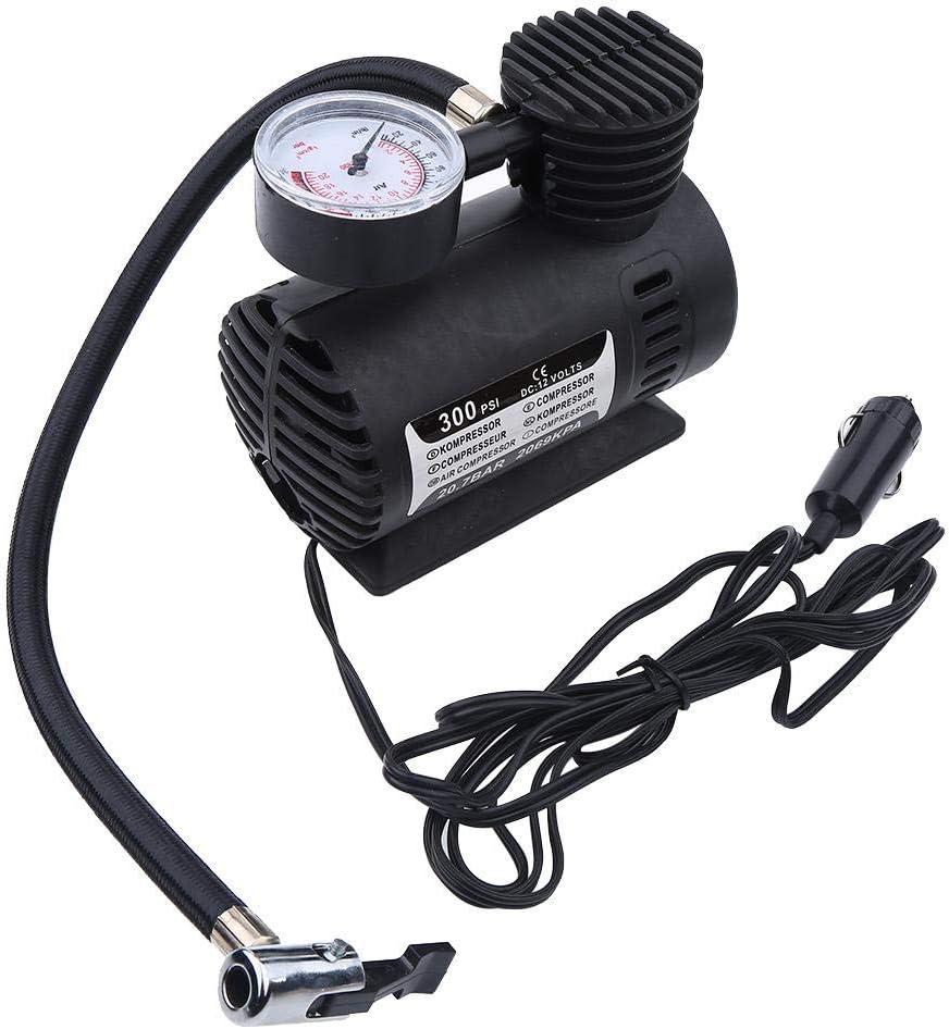 Compresor Aire Coche Inflador, MAGT Mini compresor de aire portátil Bomba infladora de neumáticos eléctrica Coche de 12 voltios 300 PSI Adecuado para bicicletas Coches Motos