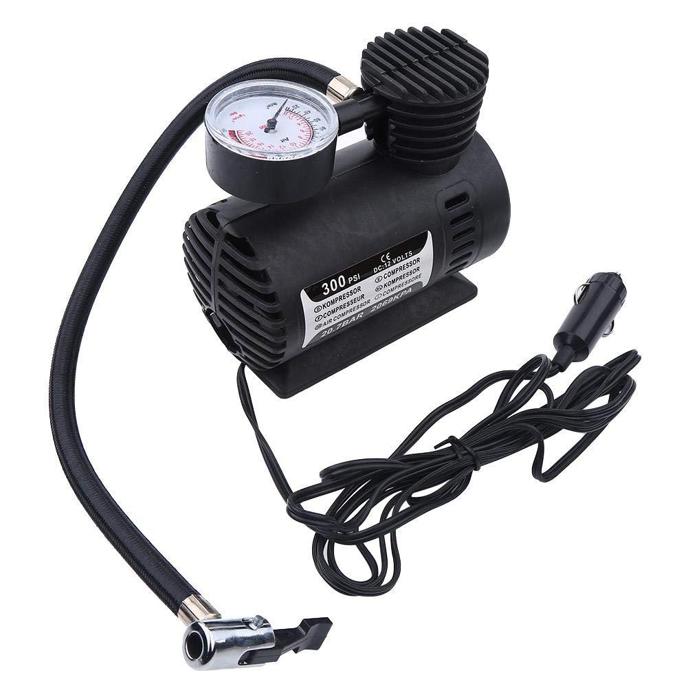 pompa di gonfiaggio automobilistica per pneumatici mini aria elettrica auto portatile 12V 300 PSI Compressore daria
