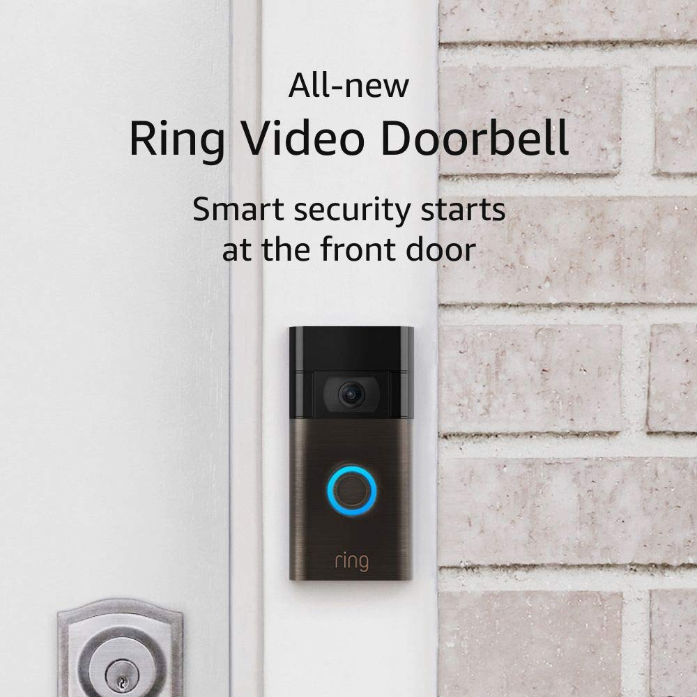 All-new Ring Video Doorbell – 1080p HD video, improved motion detection, easy installation – Venetian Bronze (2nd Gen)