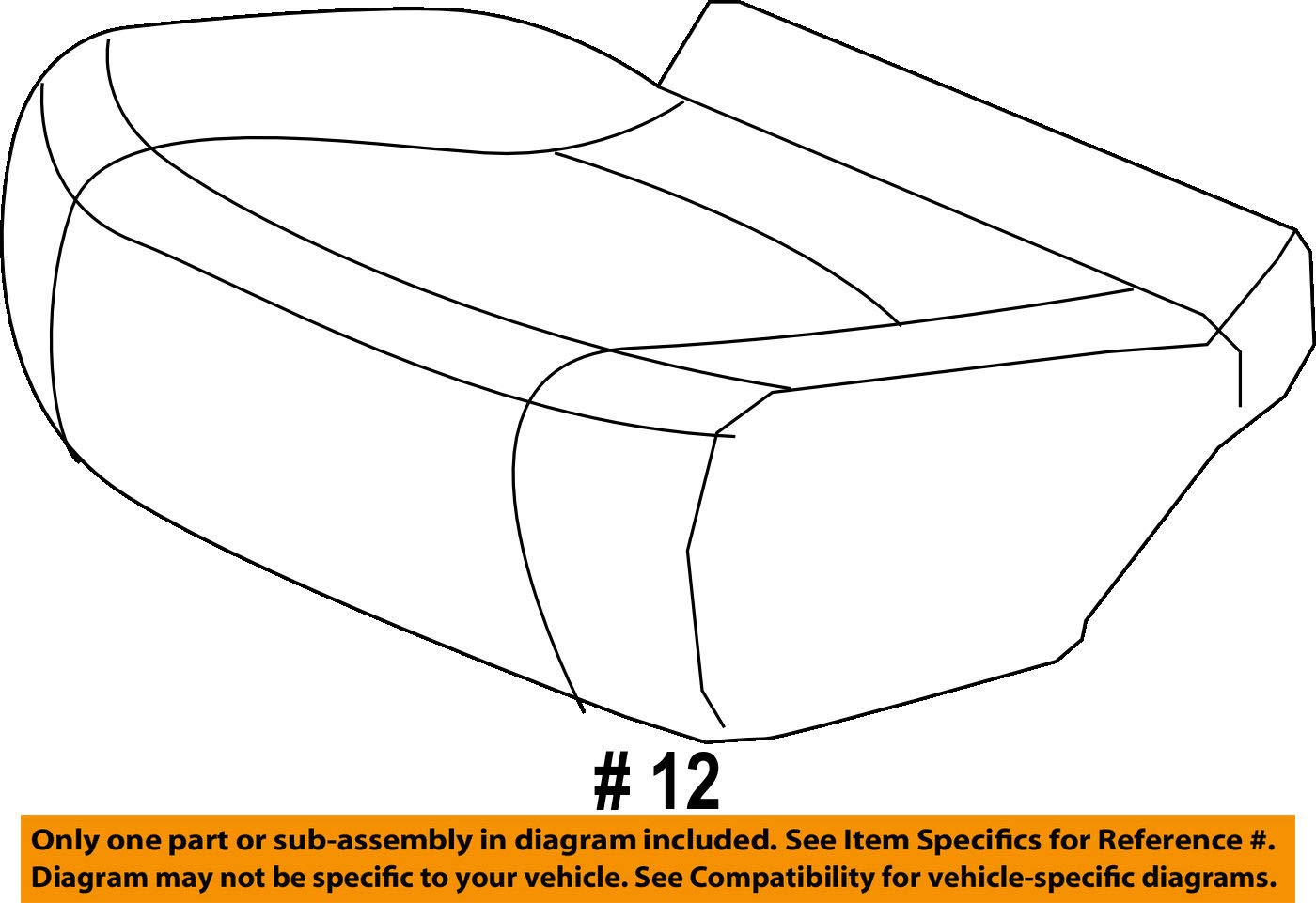 Honda Genuine 81331-SZA-A22ZD Seat Cushion Trim Cover Right Middle