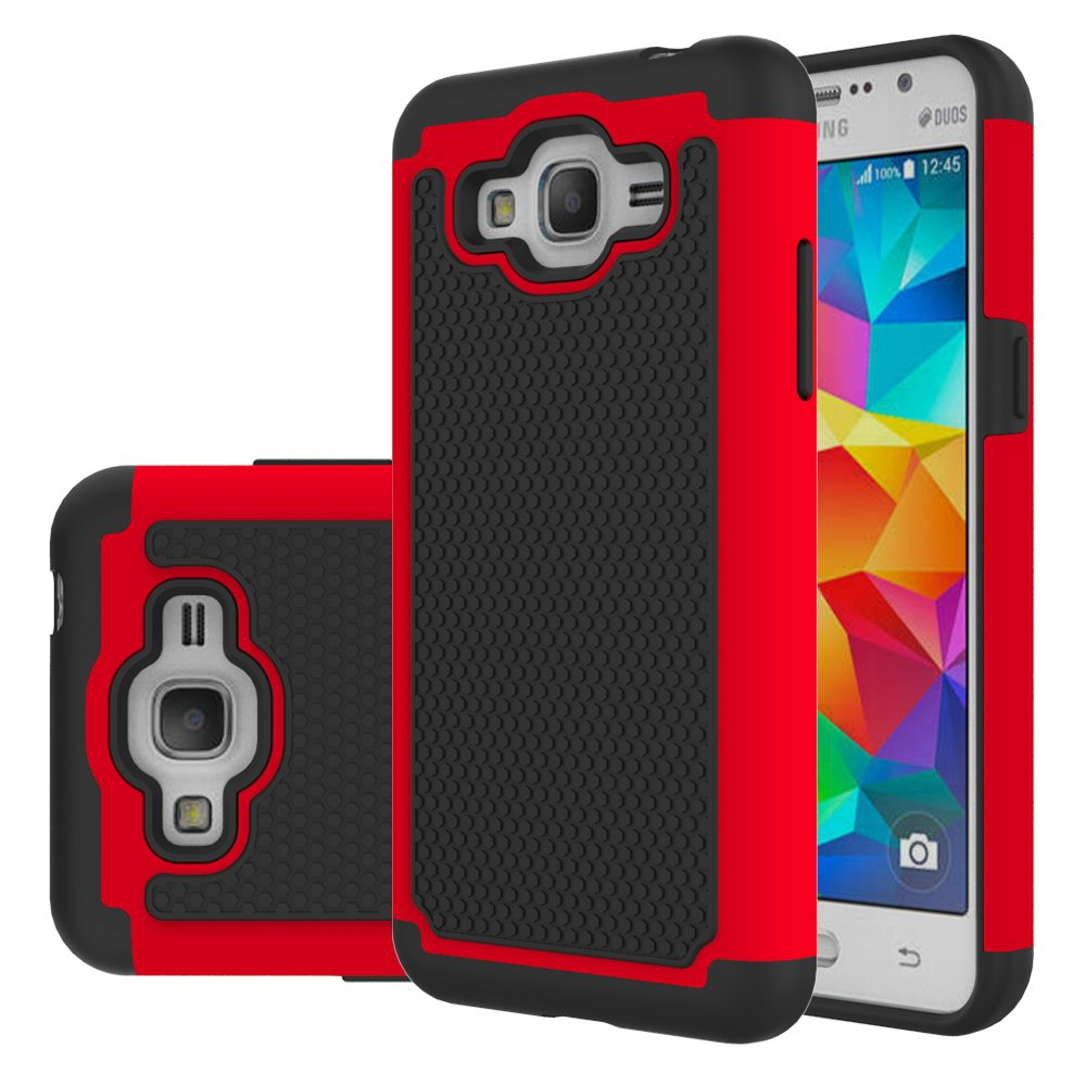 Galaxy J2 Prime Case, Galaxy Grand Prime Plus Case, Eflistone[Shock Absorption] Drop Protection Hybrid Armor Defender Protective Case Cover for Samsung Galaxy Grand Prime Plus / J2 Prime (Bird)