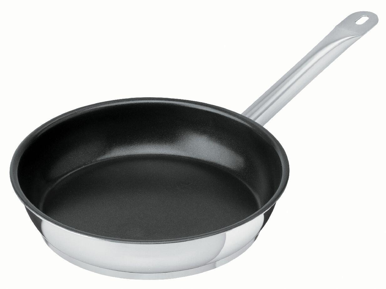 Kuhn Rikon ''Cater Star'' Stainless Steel Frying Pan, 9.45'', Silver/Black