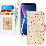 FYY iPhone Xr Cases,Hamdmade Flip Folio Leather Wallet Case with [Wrist Strap] [Kickstand Feature] [Card Slots] [Magnetic Closure] Protective Phone Cases iPhone Xr Cover Pattern-36