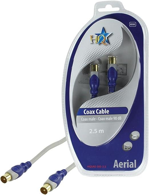 HQ SAE-505-2.5 - Cable coaxial (2.5m, Gris, Macho/Macho, Coaxial ...