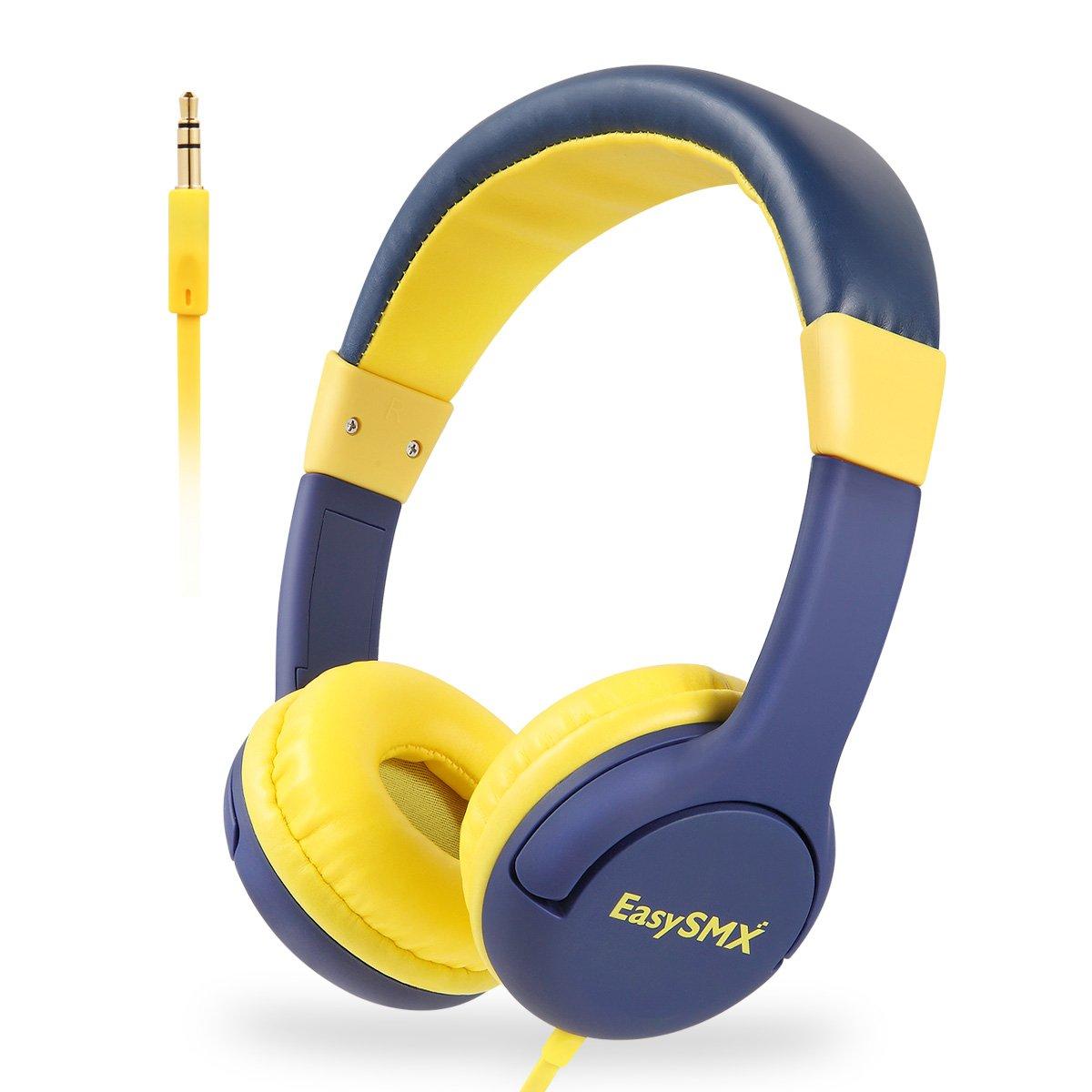 EasySMX Cascos Niños, [Regalos] Auriculares para Niños con 3.5 mm Jack, Cascos