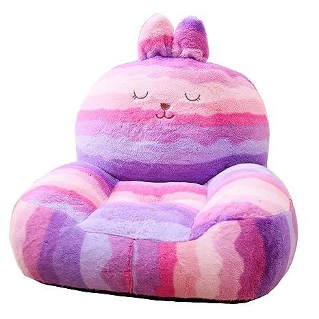 Amazon.com: W.una - Mini tumbona para niños, silla, puf de ...