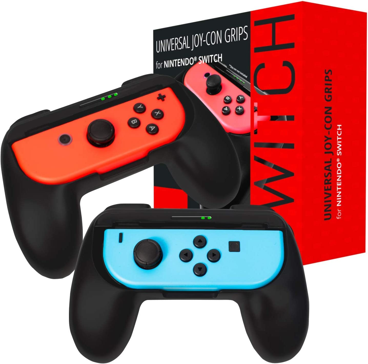 Grips de Orzly compatibles con los Joy-Cons de la Nintendo Switch: Amazon.es: Electrónica