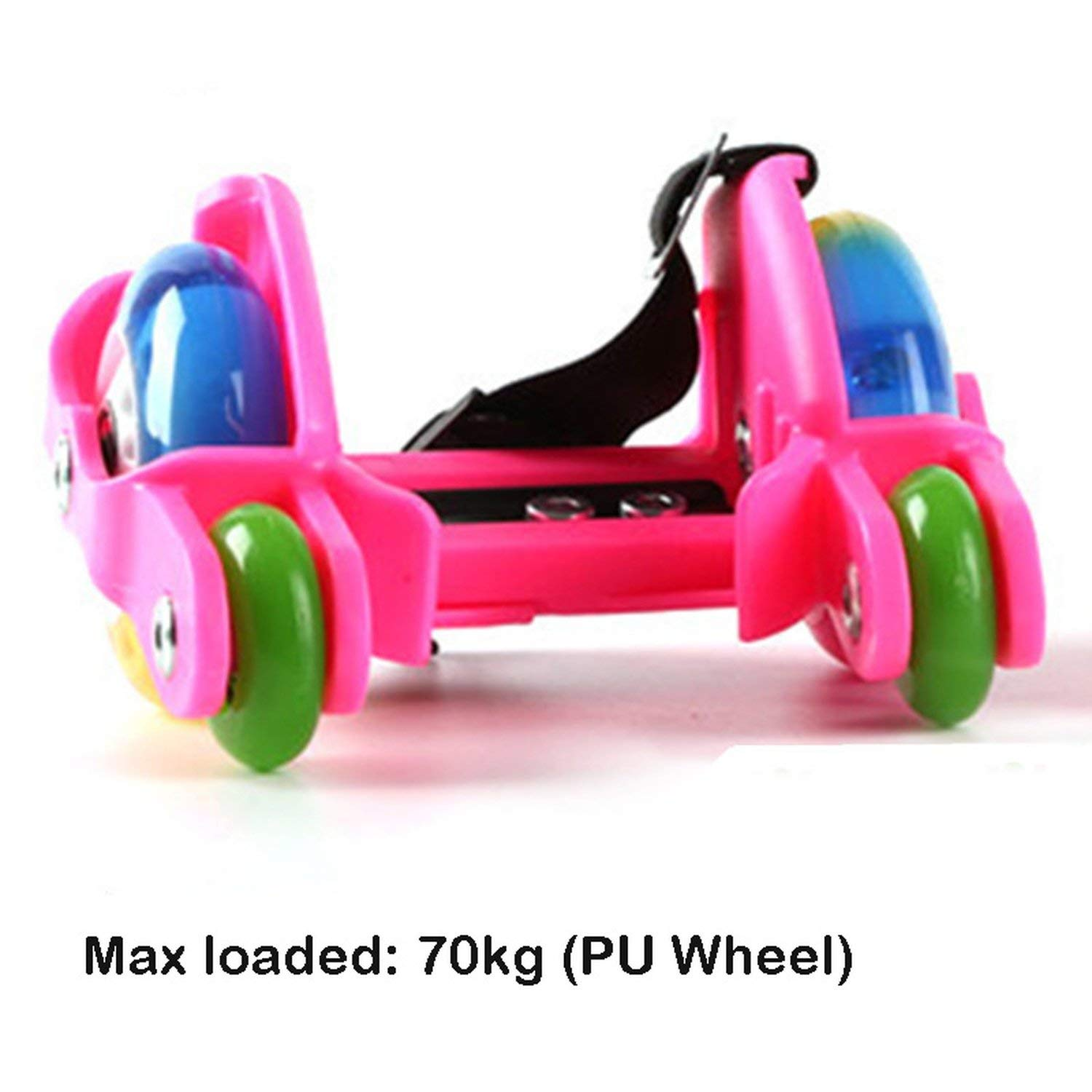 Flashing Roller Skating Shoes Small Whirlwind Pulley Flash Wheel Heel Roller Skates Sports Rollerskate Shoes for Kids and Adult,70Kg Pu Pink