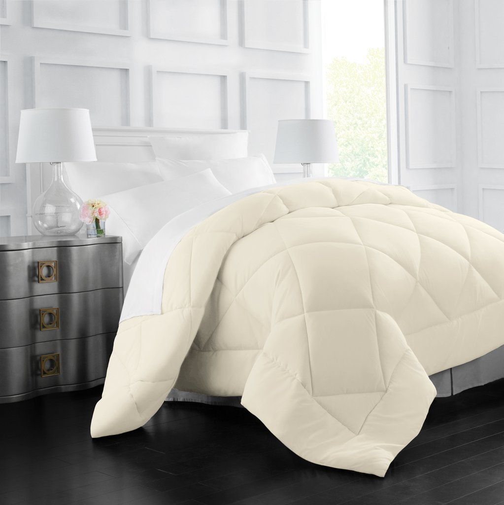 Egyptian Luxury Goose Down Alternative Comforter - All Season - 2100 Series Hotel Collection - Luxury Hypoallergenic Comforter - Twin/TwinXL - Ivory