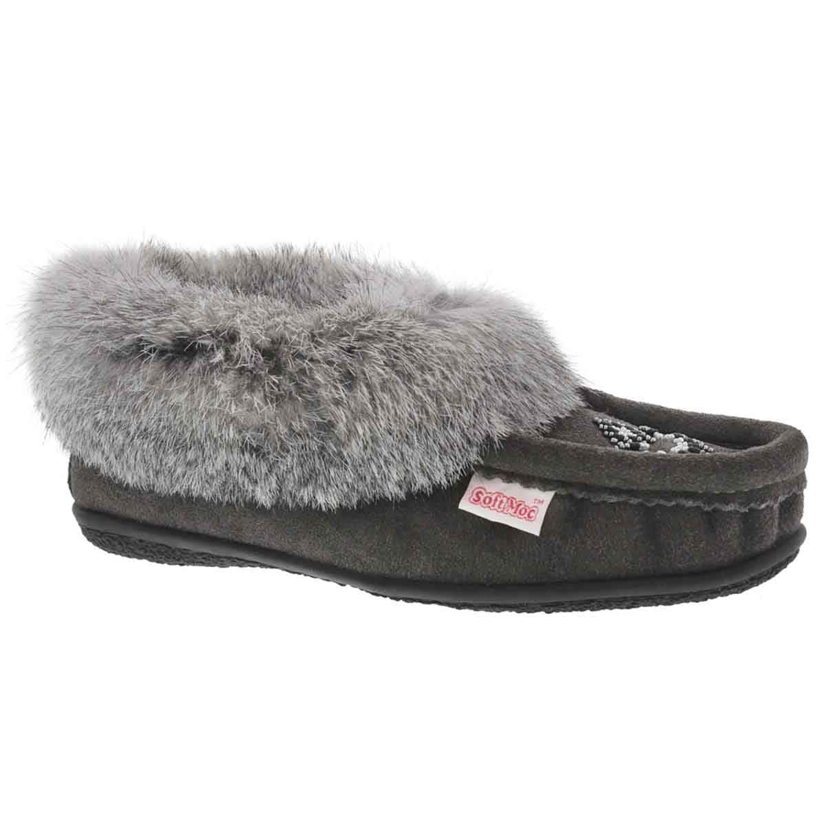 SoftMoc Women's Cute 4 Rabbit Fur Moccasin