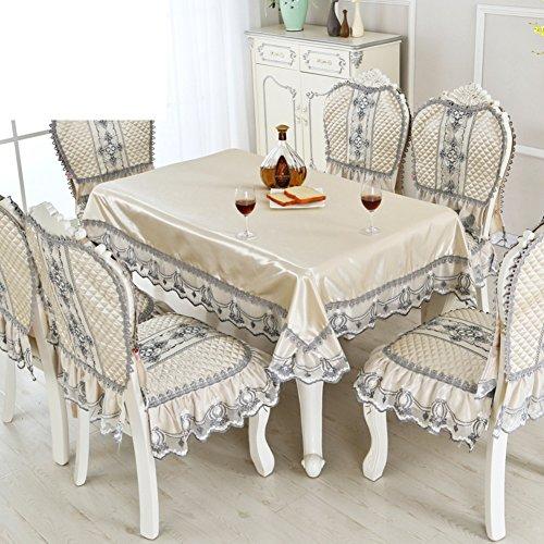 B 150200cm(59x79inch) Tissu De Table De Luxe De Style Européen Nappe Nappe Oblongue-B 150200cm(59x79inch)