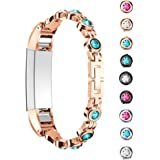 For Fitbit Alta Strap and Alta HR Metal Bands wirh Crystal ,HARRYSTORE Stainless Steel Adjustable Replacement Accessory Straps for Fitbit Alta (HR) Fitness Wristband