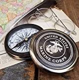 Best Christmas Gift Engraved Brass Antique Marine Corps Compass