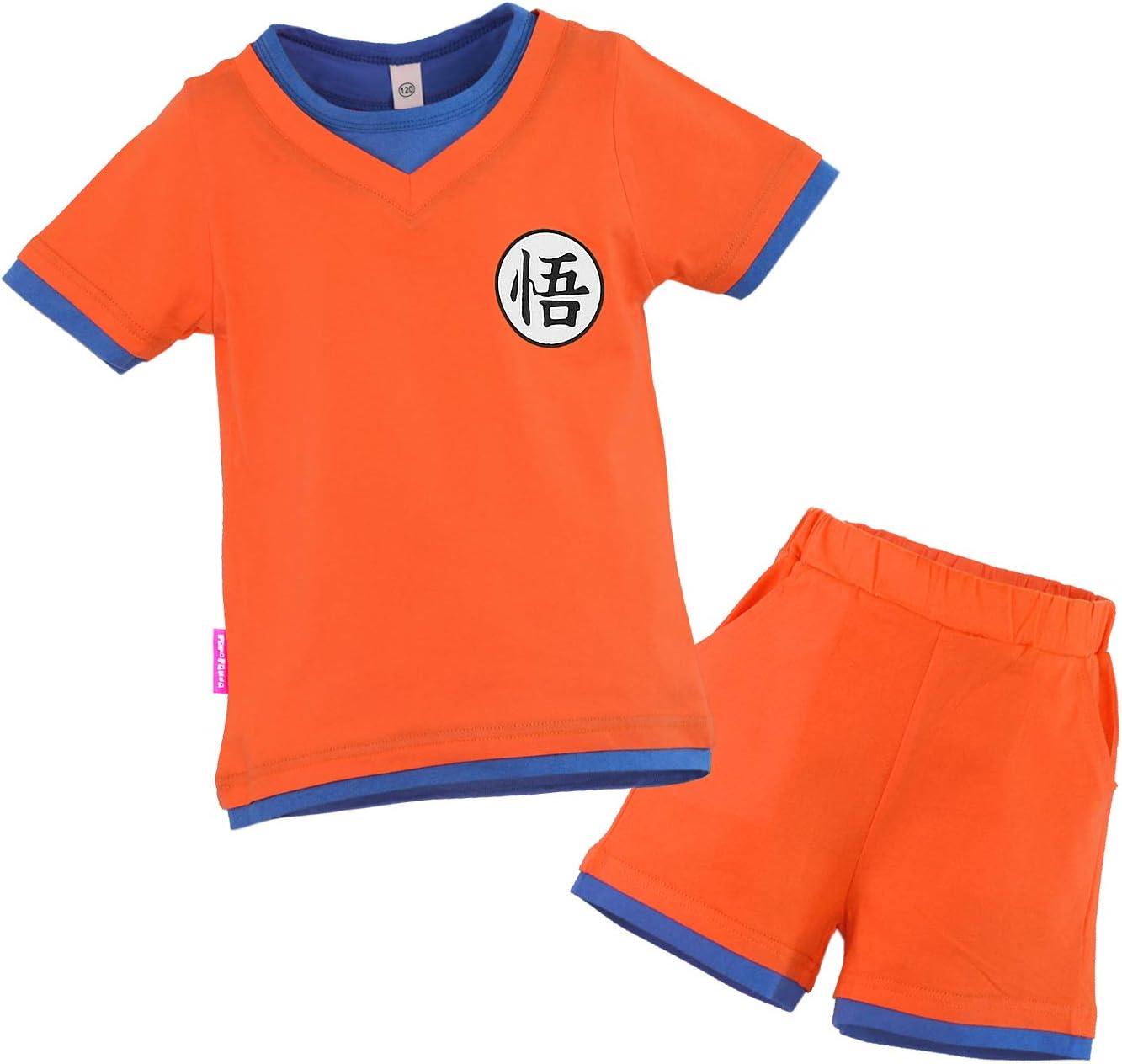 Niños Disfraz Camiseta T-Shirt Shorts para Bola del Dragón Son ...