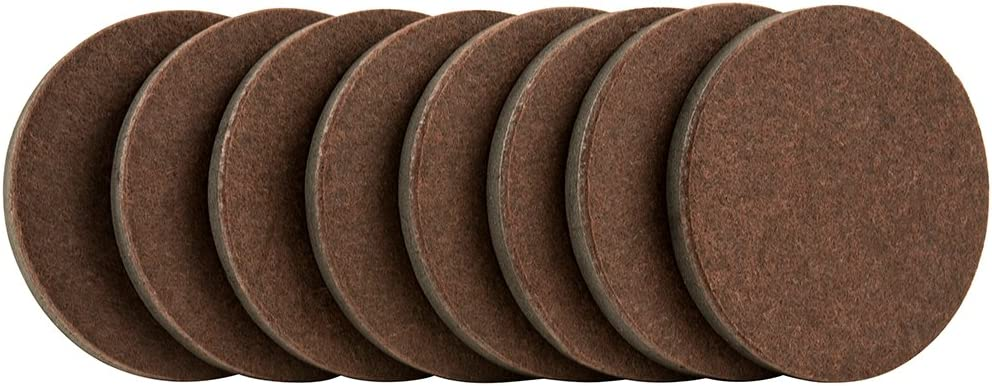 "SuperSliders 4724595N Reusable Furniture Movers for Hardwood Floors- Quickly and Easily Move Items with Felt Floor Protectors, 3-1/2"" Brown (8 Pack)"