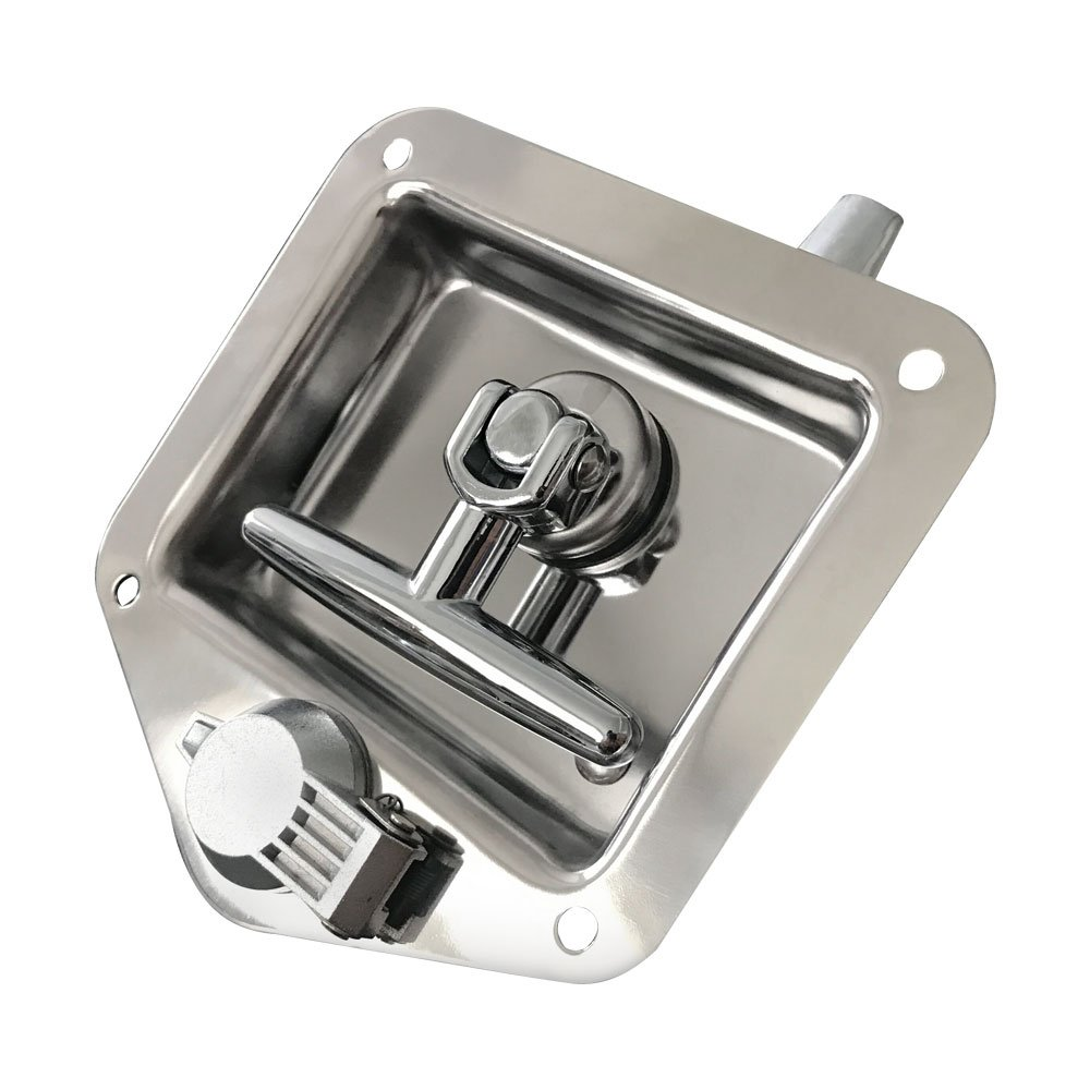 Ninth-City Car Truck Trailer Camp Stainless Steel Folding T Shape Handle Lock Tool Latch