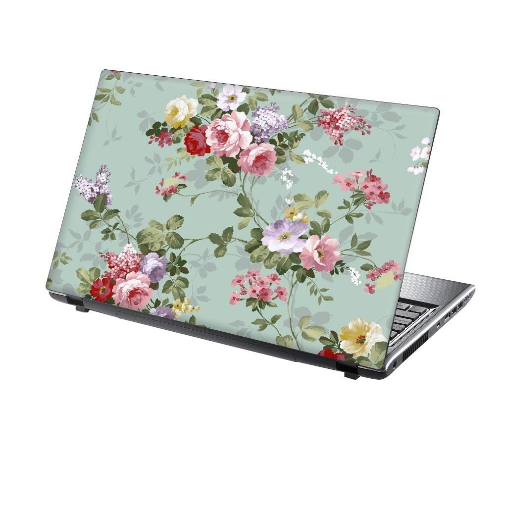 TaylorHe 15.6 inch 15 inch Laptop Skin Vinyl Decal with Colorful Patterns and Leather Effect Laminate MADE IN England Gold Foil