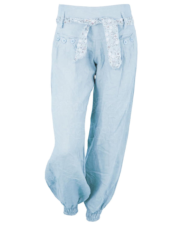 Gracious Girl Vani Womens Linen Harem Trousers