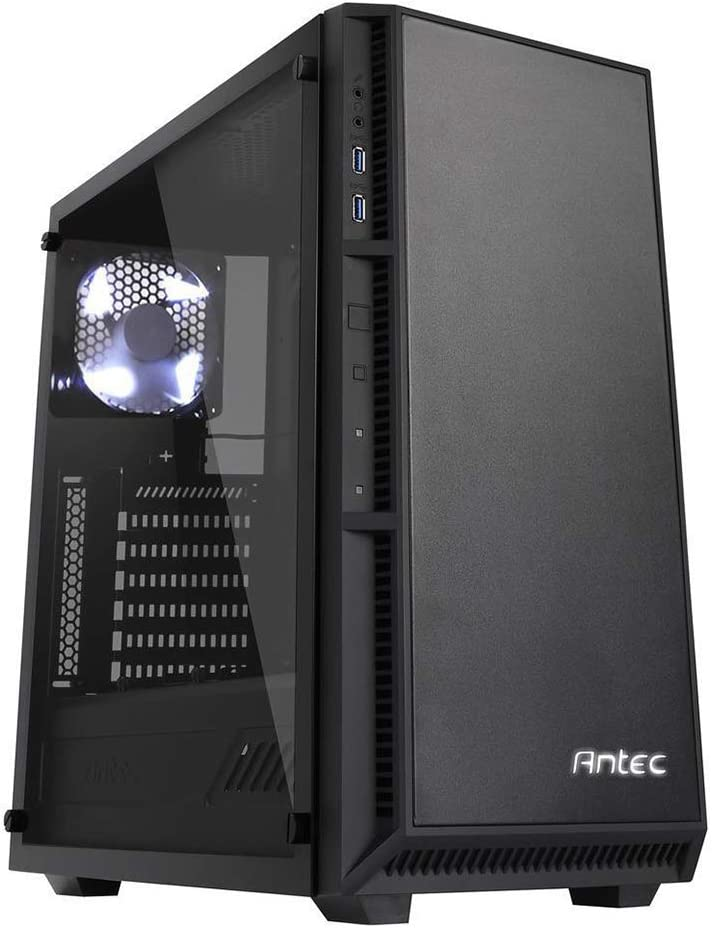 Antec Performance Series P8 Mid-Tower PC Computer Case with Tool-Less HDD Cage, Tempered Glass Side Panel, Pre-Installed White LED Fans x 3, Liquid Cooling Radiators, ATX/M-ATX/ITX Support
