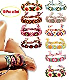 FIBO STEEL Friendship Bracelets for Men Women Handmade Boho Woven Strand Thread for Hair Ponytail
