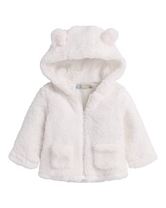 8ff562372 Amazon.com  Kidsform Baby Hooded Jacket Fleece Hoodie Spring Cute ...