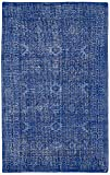 Kaleen Rugs Restoration Collection RES04-17 Blue Hand-Knotted 4' x 6' Rug