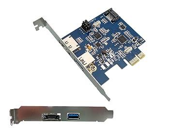 ADAPTER WORLD - Tarjeta controladora (PCI-E, 1 puerto USB ...