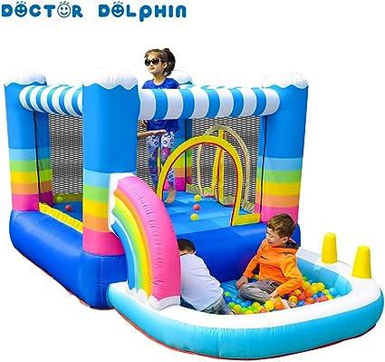Amazon.com: Castillo hinchable con diseño de delfín de ...