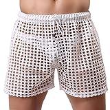 Banana Bucket US Mens Hollow Openwork Drawstring Lounge Underwear Boxer Shorts