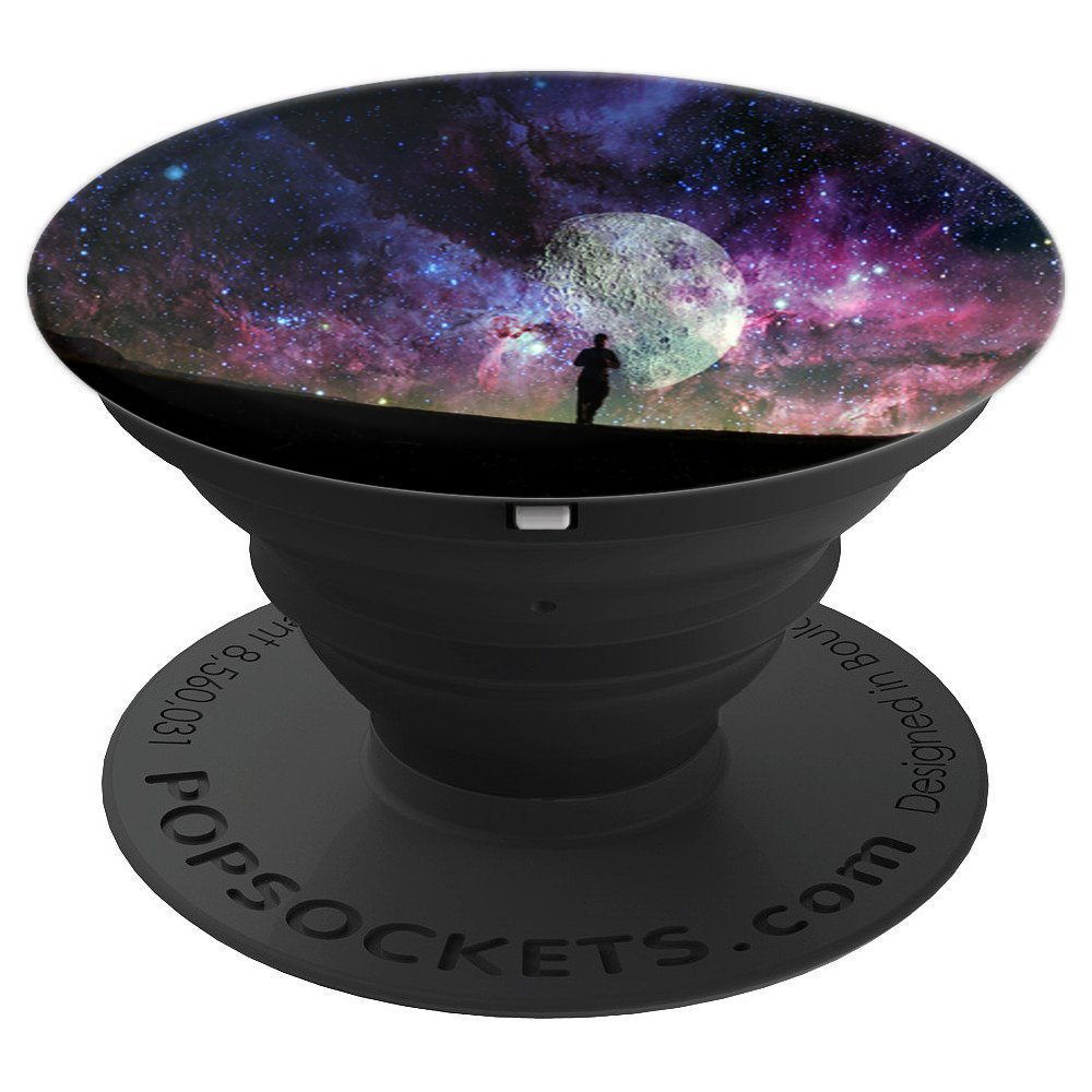 Universe Space Moon Sunset Trippy Stars Solar System Cool - PopSockets Grip and Stand for Phones and Tablets