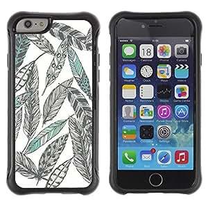 LASTONE PHONE CASE / Suave Silicona Caso Carcasa de Caucho Funda para Apple Iphone 6 PLUS 5.5 / Pencil Drawing Art Green