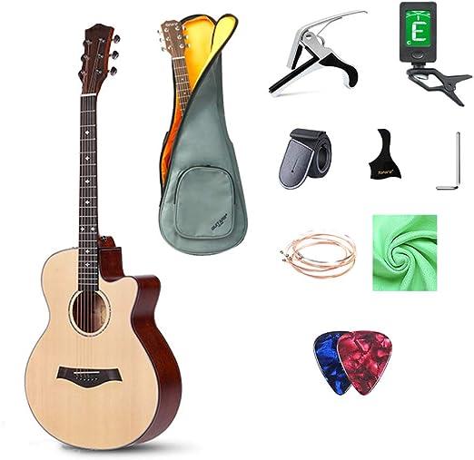 GRXDJ Guitarra clásica con Cuerdas y afinador de Nylon, Material ...