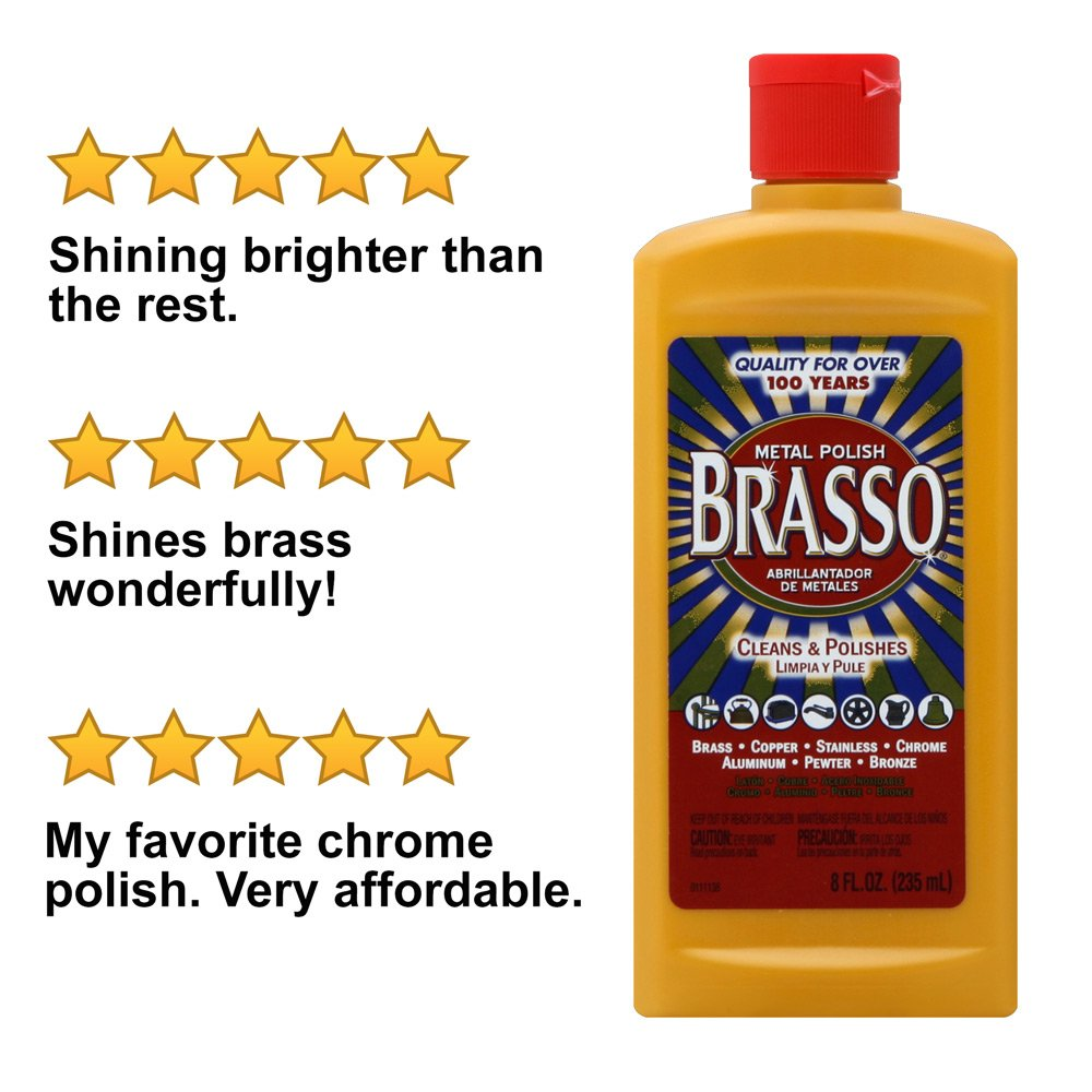 Brasso Metal Polish, 8 oz Bottle for Brass, Copper, Stainless, Chrome, Aluminum, Pewter & Bronze (Pack of 4) by Brasso (Image #8)