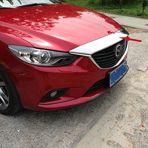 Generic Chrome Front Hood Grill Cover Bonnet Trim Fit For 2014 2015 2016 2017 Mazda 6 ATENZA M6