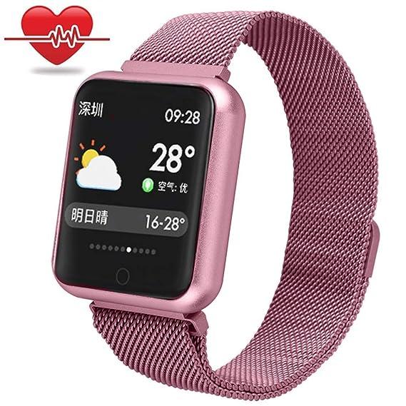 Miya Smart Watch Sport GPS Monitoreo de Ritmo Cardíaco Rastreador de Ejercicios Presión Arterial Monitoreo de Oxígeno Sanguíneo Pulsera Inteligente