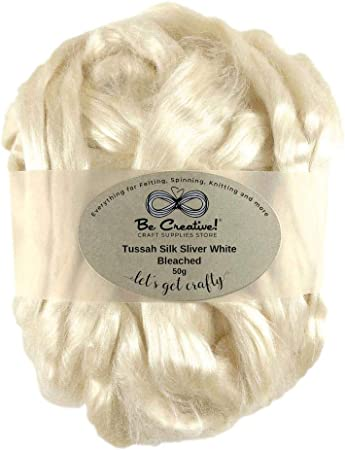 Spinning Merino Wool Tussah Silk Tops One Ounce for Felting Phoenix