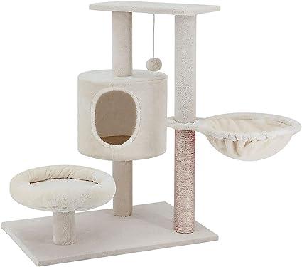 Amazon.com: ScratchMe Torre de árbol para gatos con hamaca y ...