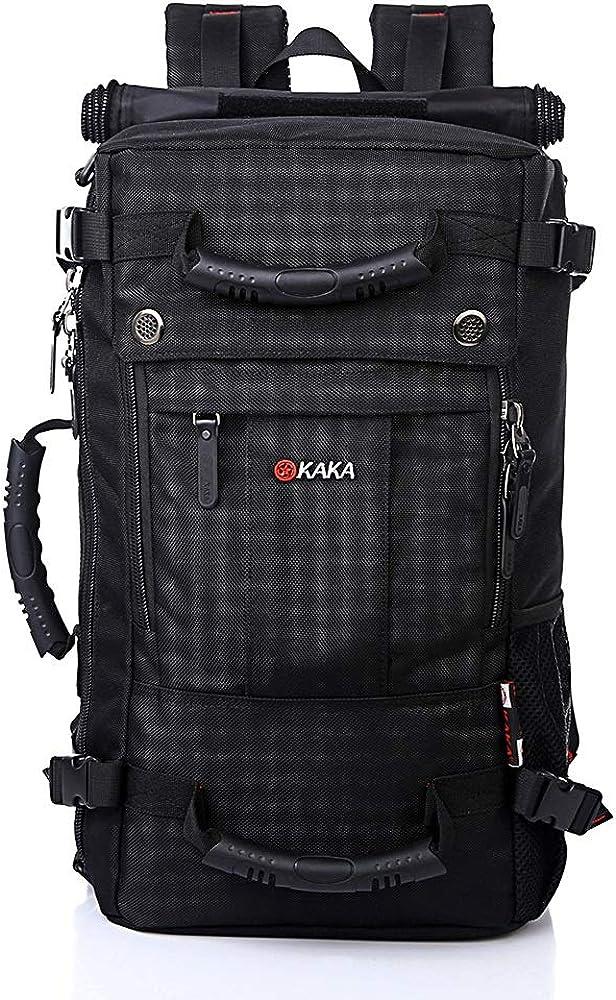 HDHUA Laptop Bag Large-Capacity Outdoor Backpack Male Leisure Travel Bag Shoulder Bag Student Backpack Waterproof Computer Interlocking