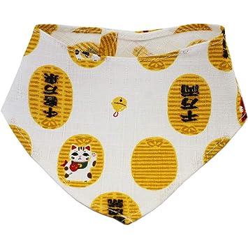 Cocoluck Pañuelo Dorado para Gatos, diseño Tradicional japonés