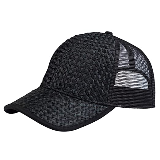 c02a8bd7713e9 Amazon.com  Low Profile Structured Mesh Straw Trucker Cap  Clothing