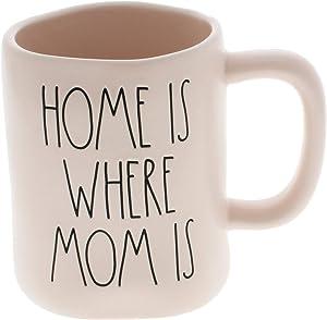 Rae Dunn by Magenta HOME IS WHERE MOM IS LL Pink Coffee Mug