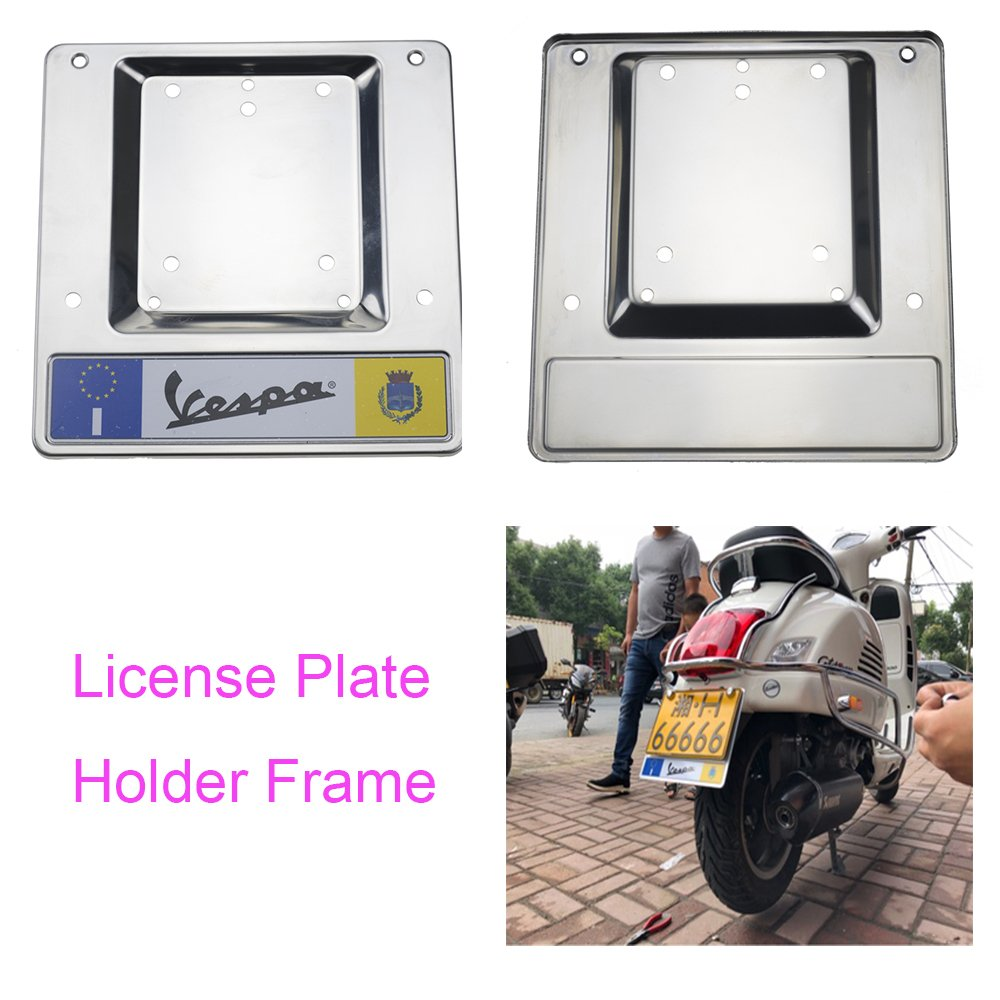 PRO-KODASKIN License Plate Holder Frame for VESPA GTS GTV LX Primavera Sprint PX